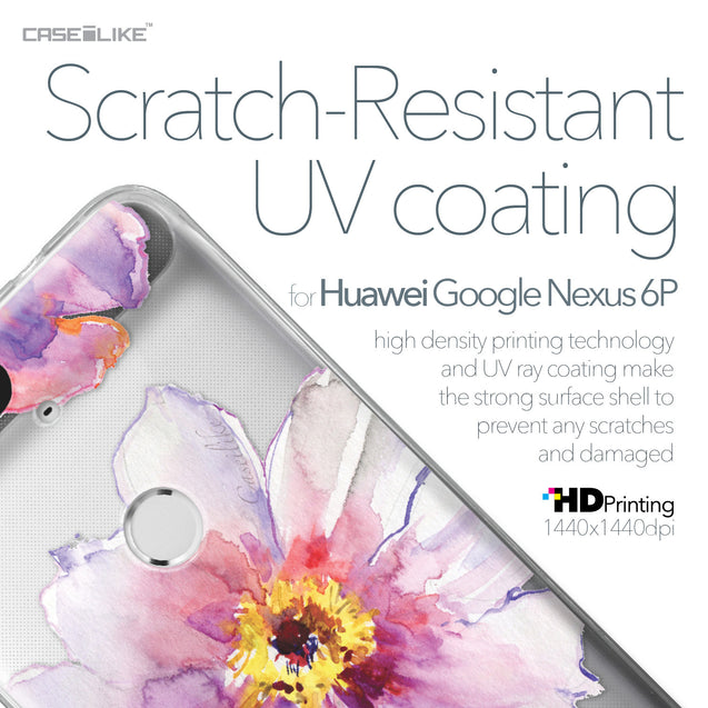 Huawei Google Nexus 6P case Watercolor Floral 2231 with UV-Coating Scratch-Resistant Case | CASEiLIKE.com