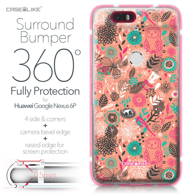 Huawei Google Nexus 6P case Spring Forest Pink 2242 Bumper Case Protection | CASEiLIKE.com