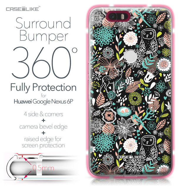 Huawei Google Nexus 6P case Spring Forest Black 2244 Bumper Case Protection | CASEiLIKE.com