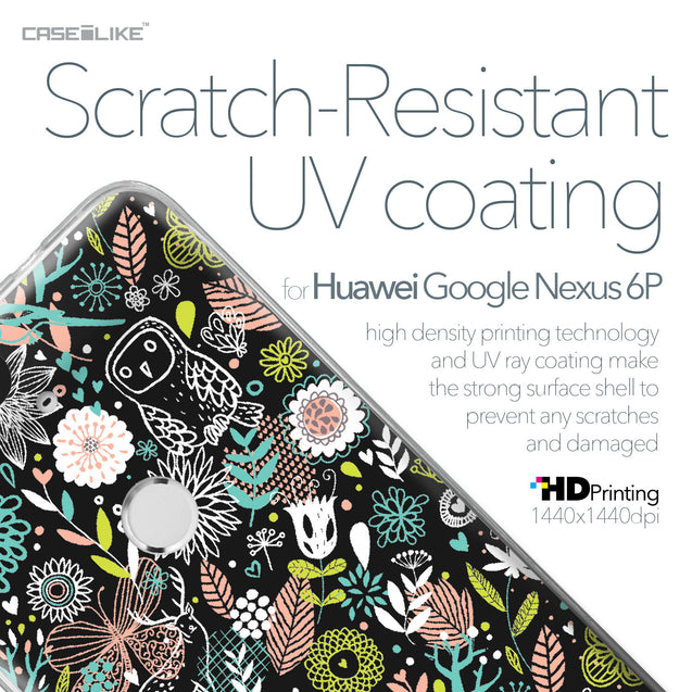 Huawei Google Nexus 6P case Spring Forest Black 2244 with UV-Coating Scratch-Resistant Case | CASEiLIKE.com