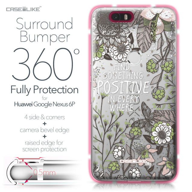 Huawei Google Nexus 6P case Blooming Flowers 2250 Bumper Case Protection | CASEiLIKE.com