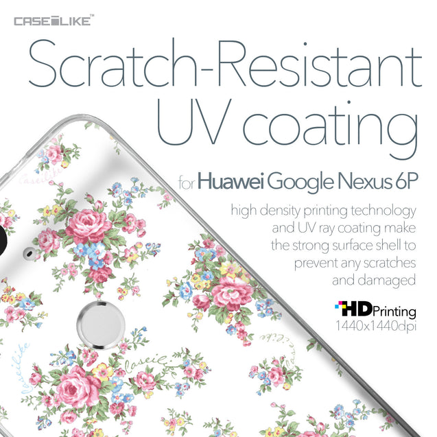 Huawei Google Nexus 6P case Floral Rose Classic 2260 with UV-Coating Scratch-Resistant Case | CASEiLIKE.com