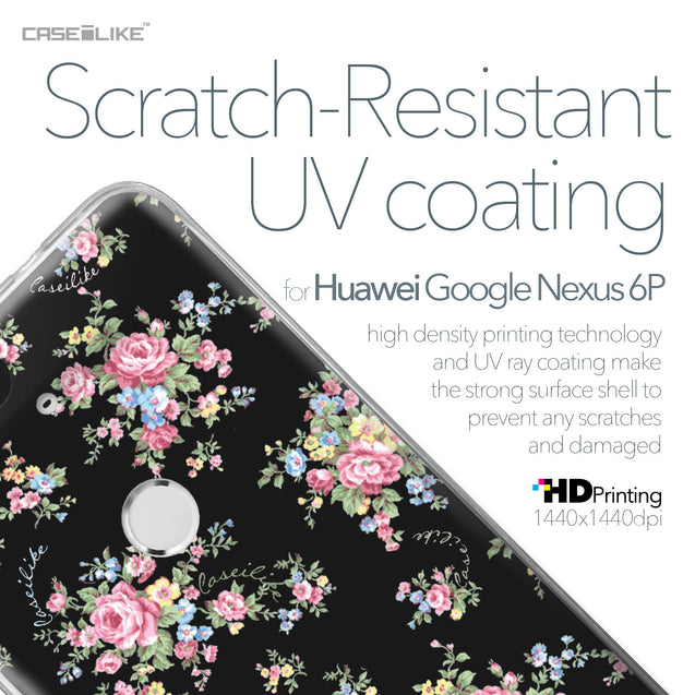 Huawei Google Nexus 6P case Floral Rose Classic 2261 with UV-Coating Scratch-Resistant Case | CASEiLIKE.com