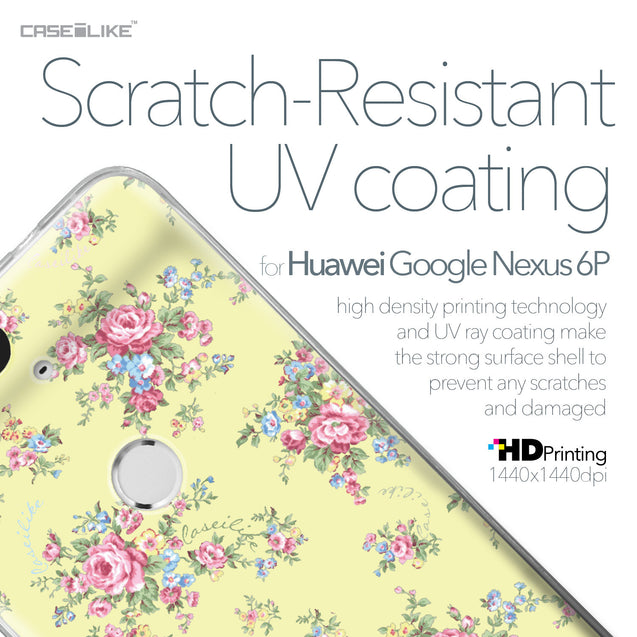 Huawei Google Nexus 6P case Floral Rose Classic 2264 with UV-Coating Scratch-Resistant Case | CASEiLIKE.com