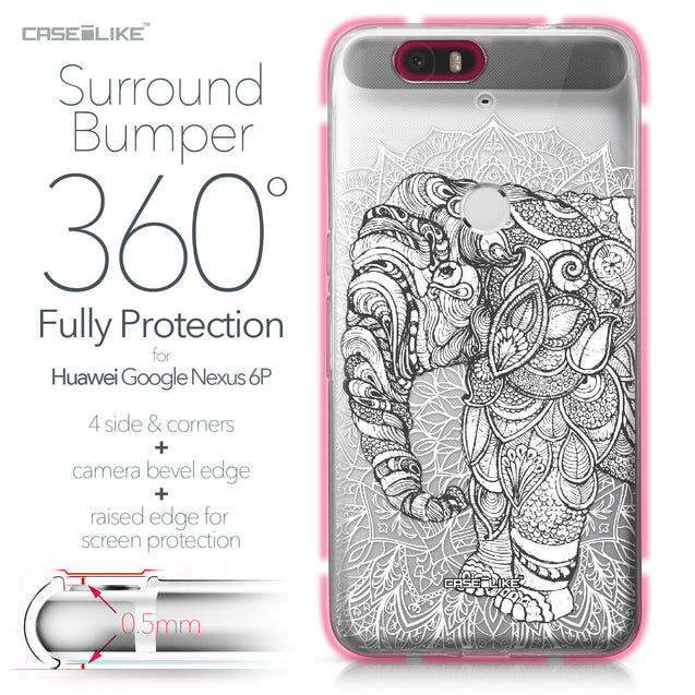 Huawei Google Nexus 6P case Mandala Art 2300 Bumper Case Protection | CASEiLIKE.com