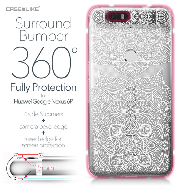 Huawei Google Nexus 6P case Mandala Art 2303 Bumper Case Protection | CASEiLIKE.com