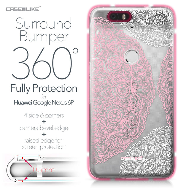 Huawei Google Nexus 6P case Mandala Art 2305 Bumper Case Protection | CASEiLIKE.com
