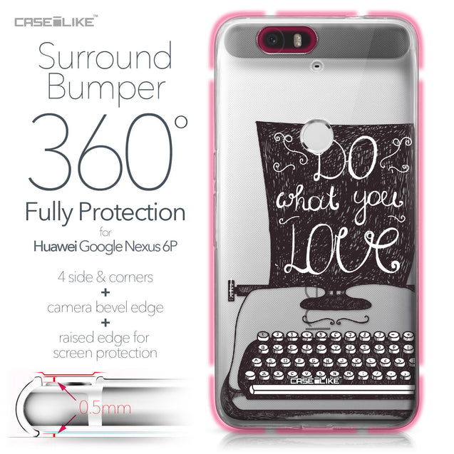 Huawei Google Nexus 6P case Quote 2400 Bumper Case Protection | CASEiLIKE.com