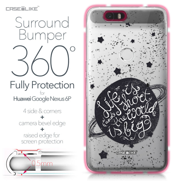 Huawei Google Nexus 6P case Quote 2401 Bumper Case Protection | CASEiLIKE.com