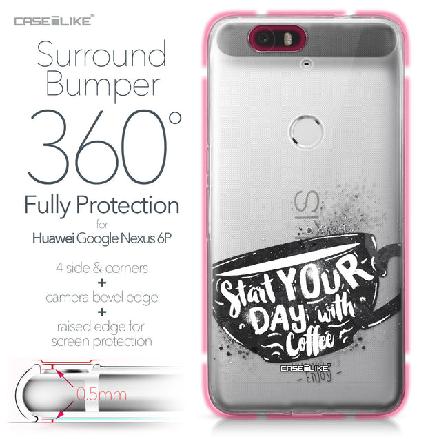 Huawei Google Nexus 6P case Quote 2402 Bumper Case Protection | CASEiLIKE.com