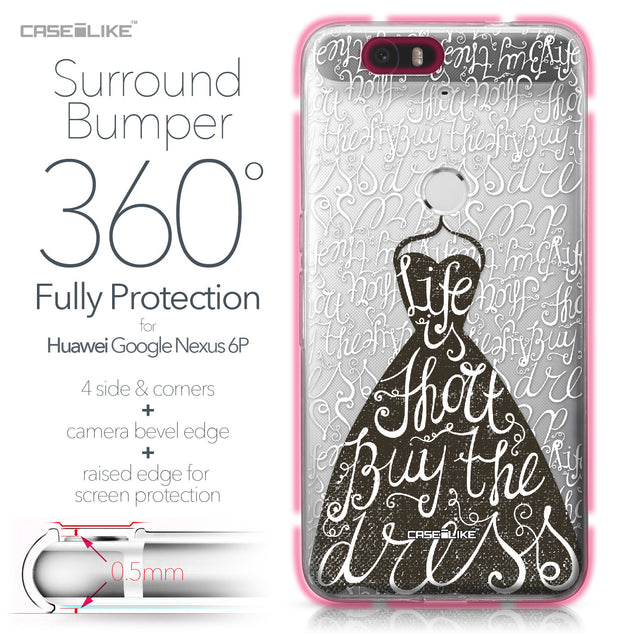 Huawei Google Nexus 6P case Quote 2404 Bumper Case Protection | CASEiLIKE.com