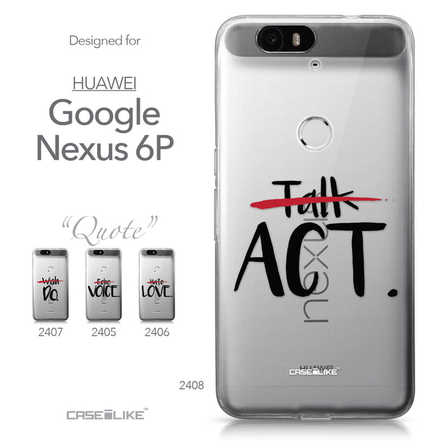 Huawei Google Nexus 6P case Quote 2408 Collection | CASEiLIKE.com