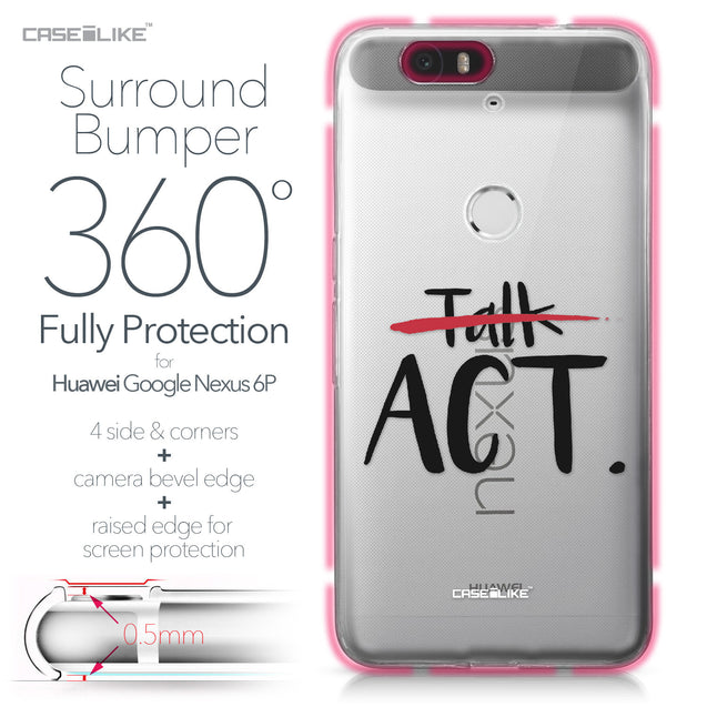 Huawei Google Nexus 6P case Quote 2408 Bumper Case Protection | CASEiLIKE.com