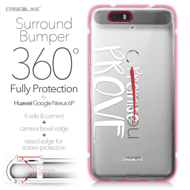 Huawei Google Nexus 6P case Quote 2409 Bumper Case Protection | CASEiLIKE.com