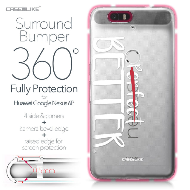 Huawei Google Nexus 6P case Quote 2410 Bumper Case Protection | CASEiLIKE.com