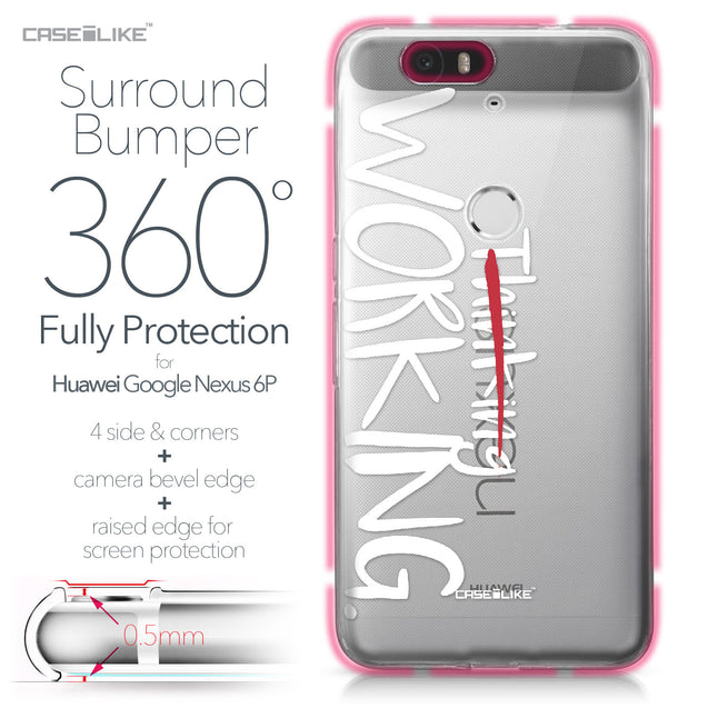 Huawei Google Nexus 6P case Quote 2411 Bumper Case Protection | CASEiLIKE.com
