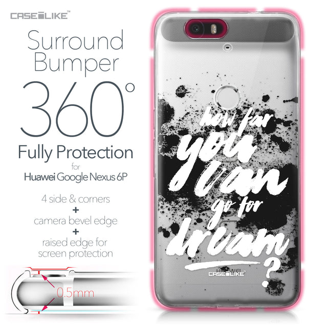 Huawei Google Nexus 6P case Quote 2413 Bumper Case Protection | CASEiLIKE.com
