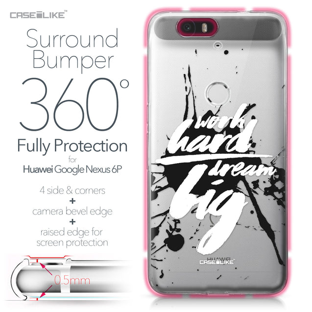 Huawei Google Nexus 6P case Quote 2414 Bumper Case Protection | CASEiLIKE.com