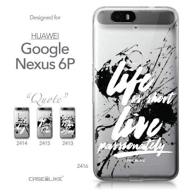 Huawei Google Nexus 6P case Quote 2416 Collection | CASEiLIKE.com