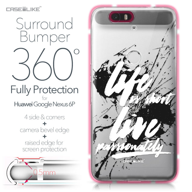 Huawei Google Nexus 6P case Quote 2416 Bumper Case Protection | CASEiLIKE.com
