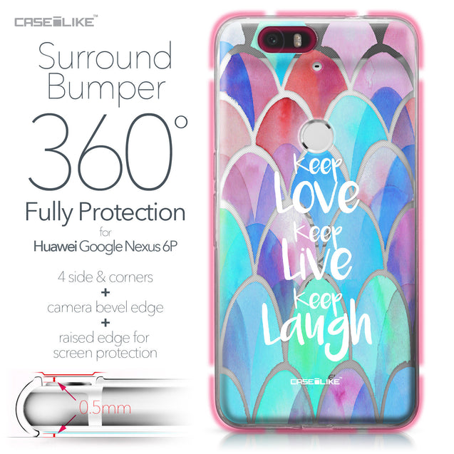 Huawei Google Nexus 6P case Quote 2417 Bumper Case Protection | CASEiLIKE.com
