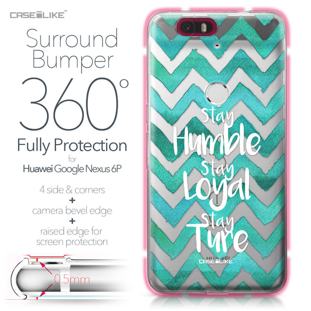 Huawei Google Nexus 6P case Quote 2418 Bumper Case Protection | CASEiLIKE.com