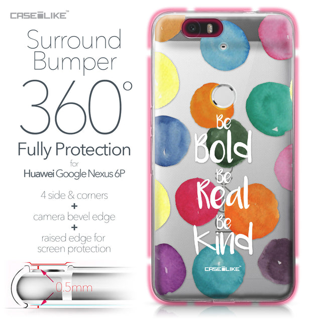 Huawei Google Nexus 6P case Quote 2420 Bumper Case Protection | CASEiLIKE.com