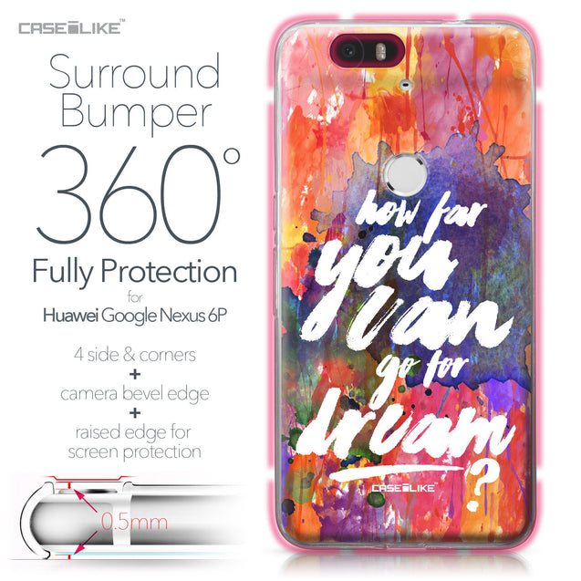 Huawei Google Nexus 6P case Quote 2421 Bumper Case Protection | CASEiLIKE.com