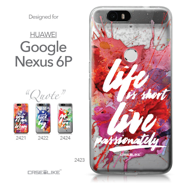Huawei Google Nexus 6P case Quote 2423 Collection | CASEiLIKE.com