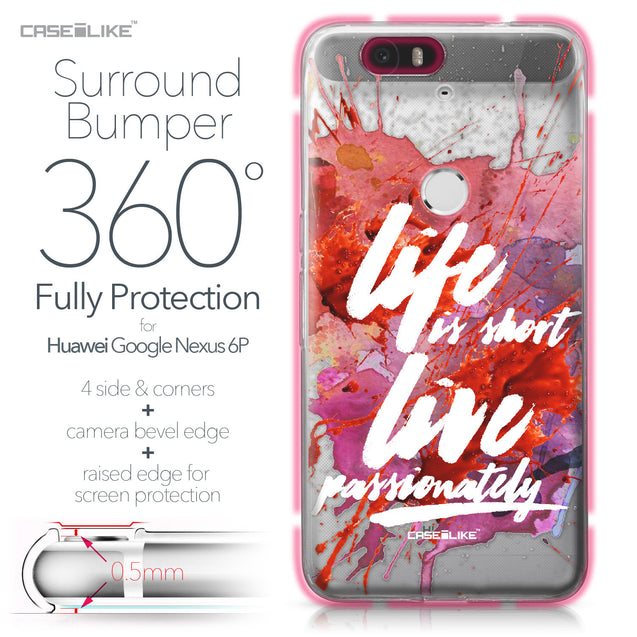 Huawei Google Nexus 6P case Quote 2423 Bumper Case Protection | CASEiLIKE.com