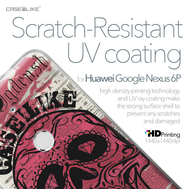 Huawei Google Nexus 6P case Art of Skull 2523 with UV-Coating Scratch-Resistant Case | CASEiLIKE.com