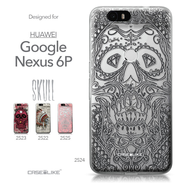 Huawei Google Nexus 6P case Art of Skull 2524 Collection | CASEiLIKE.com