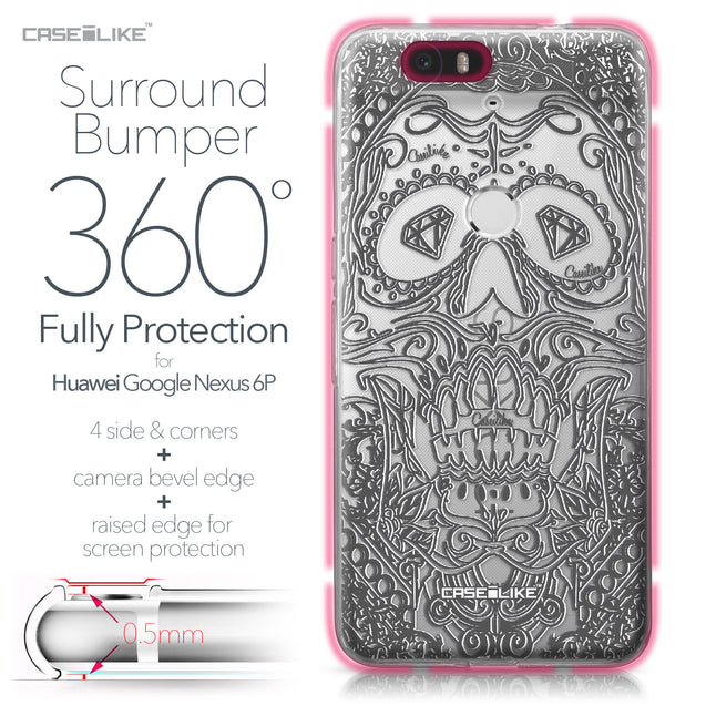 Huawei Google Nexus 6P case Art of Skull 2524 Bumper Case Protection | CASEiLIKE.com