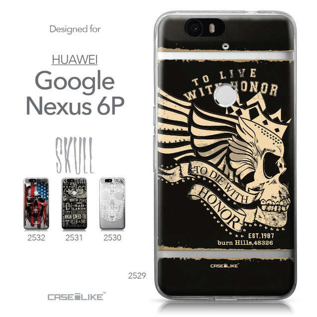 Huawei Google Nexus 6P case Art of Skull 2529 Collection | CASEiLIKE.com