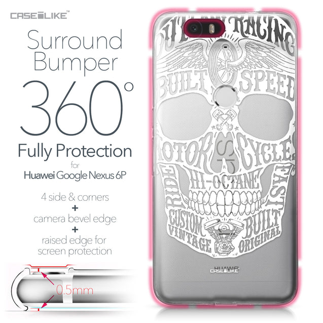 Huawei Google Nexus 6P case Art of Skull 2530 Bumper Case Protection | CASEiLIKE.com