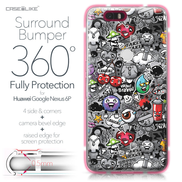Huawei Google Nexus 6P case Graffiti 2709 Bumper Case Protection | CASEiLIKE.com