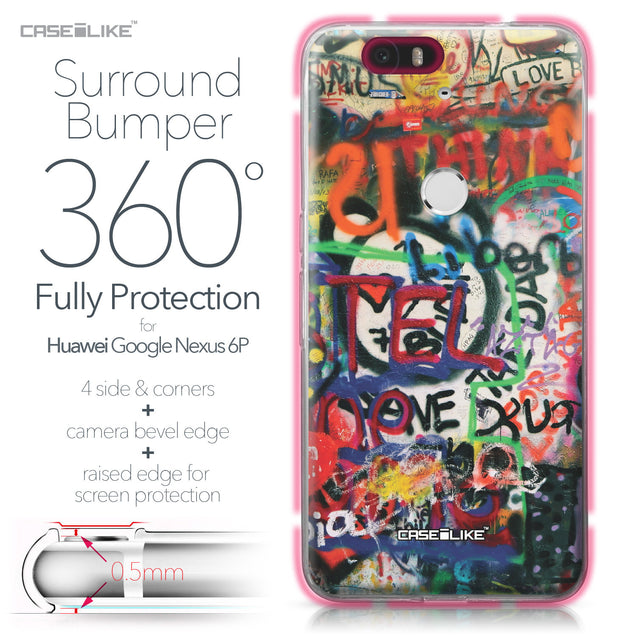 Huawei Google Nexus 6P case Graffiti 2721 Bumper Case Protection | CASEiLIKE.com