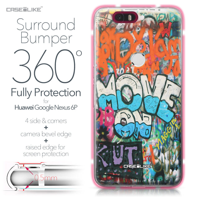 Huawei Google Nexus 6P case Graffiti 2722 Bumper Case Protection | CASEiLIKE.com