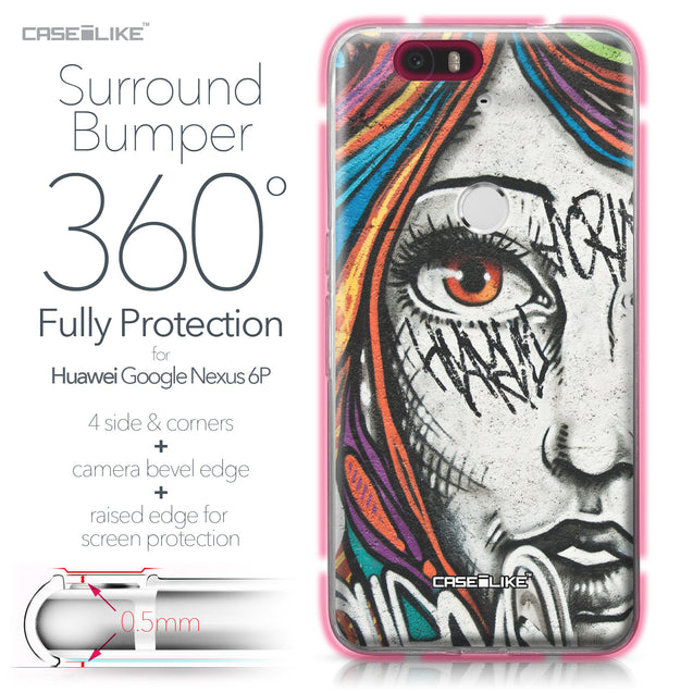 Huawei Google Nexus 6P case Graffiti Girl 2724 Bumper Case Protection | CASEiLIKE.com