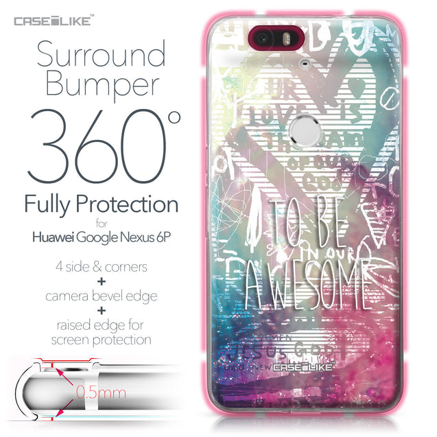 Huawei Google Nexus 6P case Graffiti 2726 Bumper Case Protection | CASEiLIKE.com