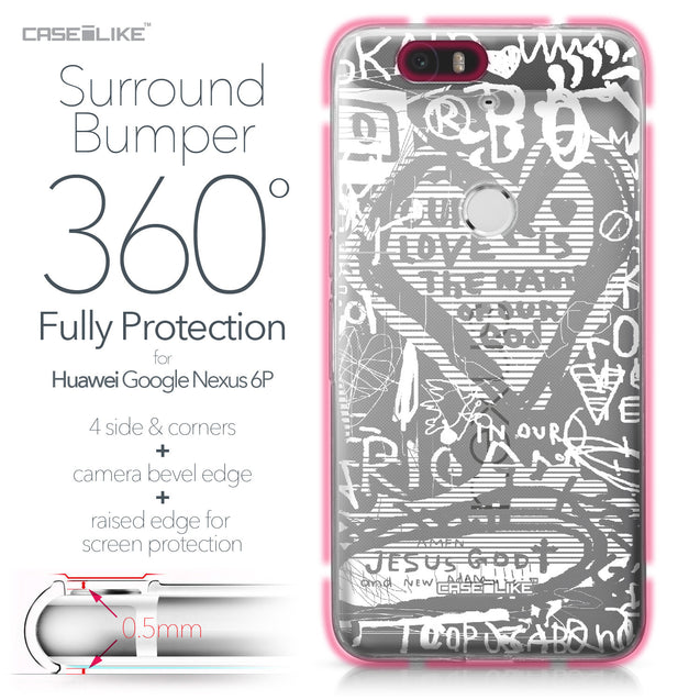 Huawei Google Nexus 6P case Graffiti 2730 Bumper Case Protection | CASEiLIKE.com