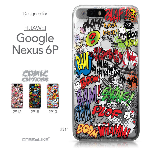 Huawei Google Nexus 6P case Comic Captions 2914 Collection | CASEiLIKE.com