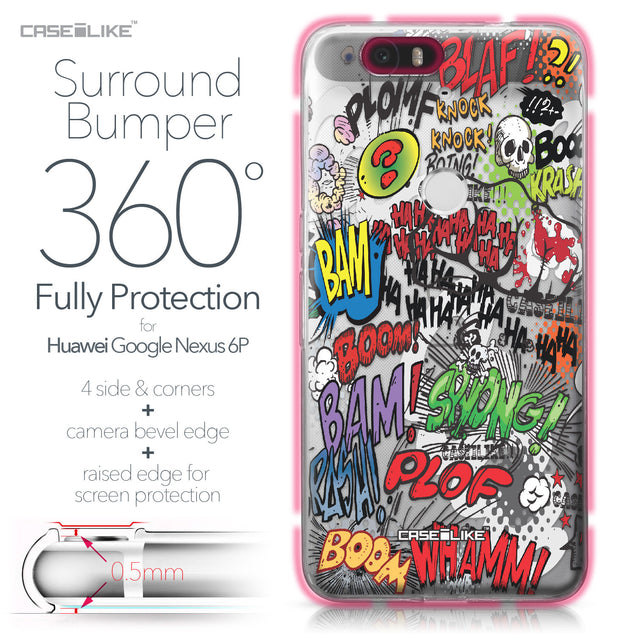 Huawei Google Nexus 6P case Comic Captions 2914 Bumper Case Protection | CASEiLIKE.com