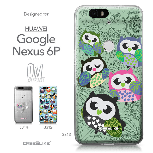 Huawei Google Nexus 6P case Owl Graphic Design 3313 Collection | CASEiLIKE.com