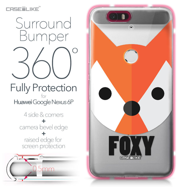 Huawei Google Nexus 6P case Animal Cartoon 3637 Bumper Case Protection | CASEiLIKE.com