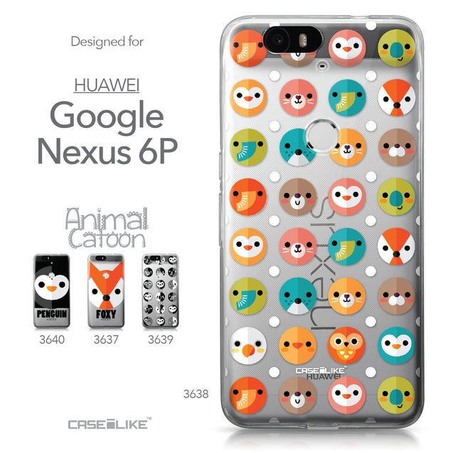 Huawei Google Nexus 6P case Animal Cartoon 3638 Collection | CASEiLIKE.com