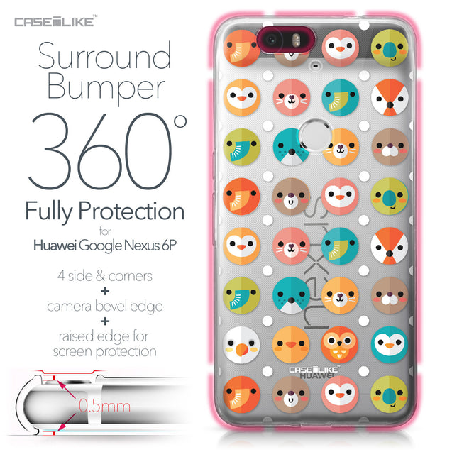 Huawei Google Nexus 6P case Animal Cartoon 3638 Bumper Case Protection | CASEiLIKE.com