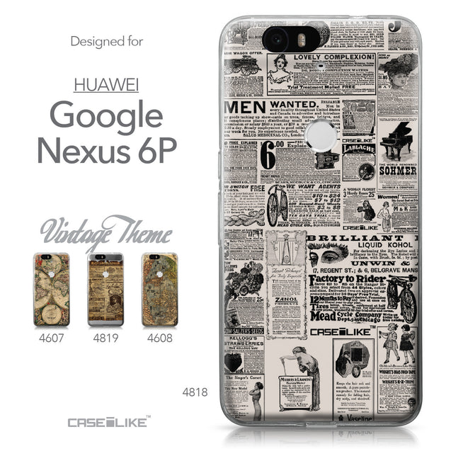 Huawei Google Nexus 6P case Vintage Newspaper Advertising 4818 Collection | CASEiLIKE.com
