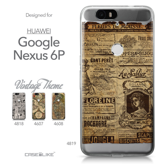 Huawei Google Nexus 6P case Vintage Newspaper Advertising 4819 Collection | CASEiLIKE.com