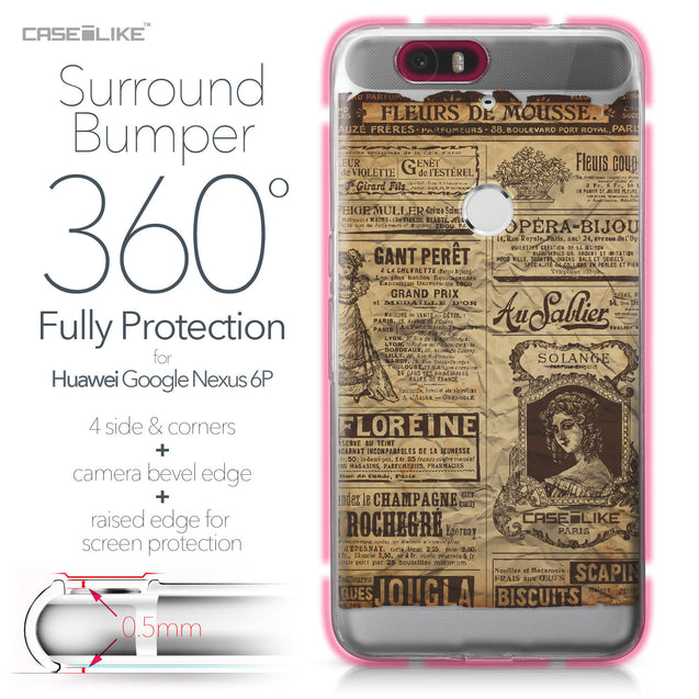 Huawei Google Nexus 6P case Vintage Newspaper Advertising 4819 Bumper Case Protection | CASEiLIKE.com